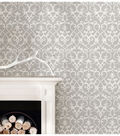 WallPops NuWallpaper Grey Ironwork Peel  & Stick Wallpaper