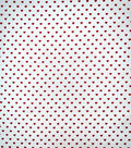 Valentine\u0027s Day Cotton Fabric-Red Hearts On White