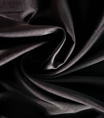 "Holiday Shine Stretch Satin Fabric 58""-Black"
