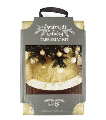 It's Sew Simple Handmade Holiday Christmas Sparkle Tree Skirt Kit