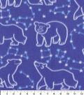 Blizzard Fleece Fabric-Polar Bear Constellations