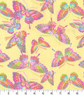 Flannel Fabric -Glitter Butterfly