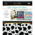 Deco Foil 4 pk 8.5\u0027\u0027x11\u0027\u0027 Clear Designer Toner Sheets-Splatter