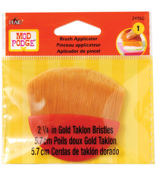 "Mod Podge Brush Applicator 2.25""-Gold Taklon"