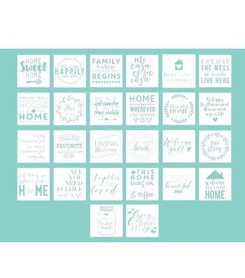 Hampton Art 12X12 Stencils-Home Sayings