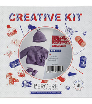 Bergere De France Cardigan, Hat & Booties Kit-Belledone