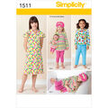 Simplicity Pattern 1511A 3-4-5-6-7--Child Sleepwear