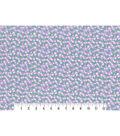 1930\u0027s Premium Cotton Print Fabric 43\u0027\u0027-Floral Vines on Purple