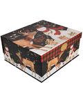 Maker\u0027s Holiday Christmas Extra Large Fliptop Storage Box-Snowman