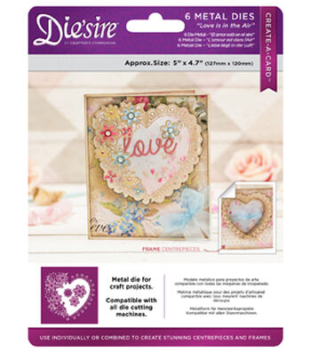 Crafter's Companion Die Create A Card 5x5-Love Is In The Air