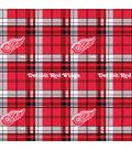 Detroit Red Wings Fleece Fabric 60\u0022-Plaid
