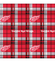 Detroit Red Wings Fleece Fabric -Plaid, , hi-res