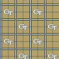 Georgia Tech Yellow Jackets Flannel Fabric 42\u0022-Plaid