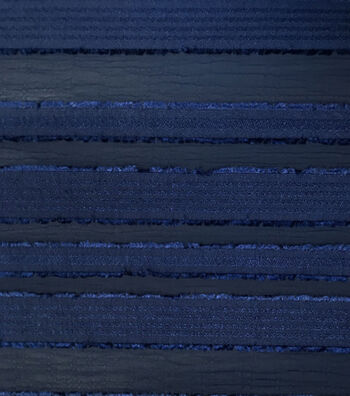 "Silky Sheer Crepe Fabric 56""-Navy Stripe"
