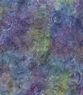 Batik Cotton Fabric-Purple & Blue Packed Medallion