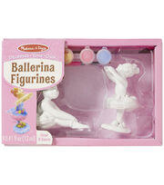 Melissa & Doug Decorate-Your-Own Ballerina Figurines Craft Kit, , hi-res