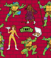 Teenage Mutant Ninja Turtles Cotton Fabric -Retro Slice of Action, , hi-res