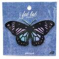 Fab Lab Wearables Butterfly Iron-on Applique-Irid Purple