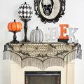 Maker\u0027s Halloween 60\u0027\u0027x22\u0027\u0027 Lace Mantel Scarf-Bats