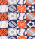 Blizzard Fleece Fabric -Patchwork Sports Balls