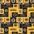 Boston Bruins Cotton Fabric -Block