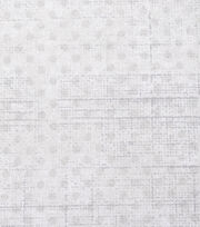 Keepsake Calico Cotton Fabric-White Grunge Mini Dots, , hi-res
