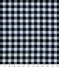 Wide Cotton Fabric-Black Gingham
