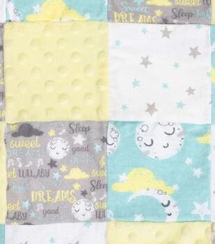 Nursery Flannel Fabric-Good Night 3D