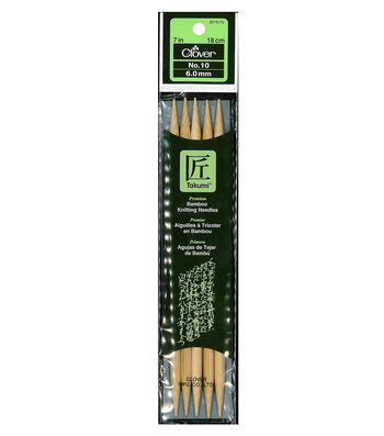 "Clover Bamboo Double Point Knitting Needles 7""-Size 10"