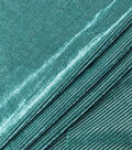 Velvet Burnout Fabric-Botanical Garden Thin Stripes