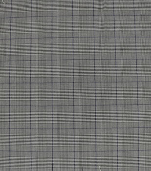 Check it Stretch Suiting Fabric-Black & White Plaid