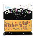 Offray Celebrations Ribbon, 1.5\u0022 x 9\u0027, 3rd Place