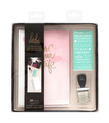 Heidi Swapp Pink Wish Album Kit