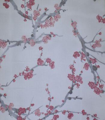 Gianna Printed Organza Fabric 54''-Eggnog Asian Floral