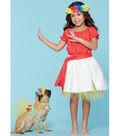 McCall\u0027s Pattern M7584 Kids\u0027 Gathered Top & Skirt & Dog Costumes