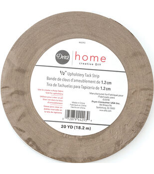 """Dritz Home 0.5"""" Wide x 20Yds Upholstery Tack Strip Natural"""