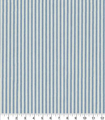 "Waverly Upholstery Fabric 13x13"" Swatch-Classic Ticking Denim"