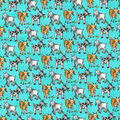Novelty Cotton Fabric-Happy Goats Aqua