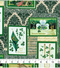 St. Patrick\u0027s Day Fabric 43\u0027\u0027-Vintage Irish Block
