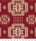 Anti-Pill Fleece Fabric 58\u0022-Red Aztec