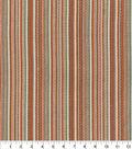 Home Decor 8\u0022x8\u0022 Fabric Swatch-Waverly Rustic Stripe Cinnabar
