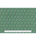 Christmas Cotton Fabric-Ditsy Santa Hats Green