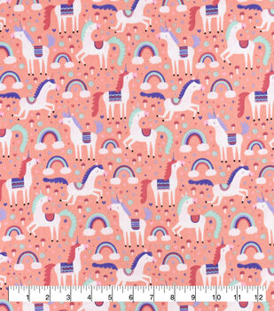 Snuggle Flannel Fabric-Magic Unicorns