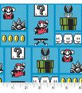 Nintendo Super Mario Cotton Fabric -Retro Game Board