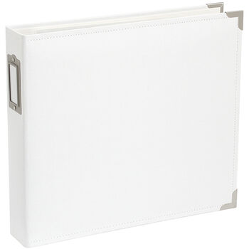 """Project Life Cloth D-Ring Album 12""""X12""""-White"""