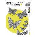 Carabelle Studio Art Azoline 4 pk A6 Cling Stamps-Flight of Butterflies