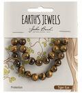 Earth\u0027s Jewels Semi-Precious Round 8mm Beads-Tiger Eye Natural