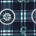 Seattle Mariners Fleece Fabric -Plaid