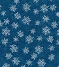 Christmas Cotton Fabric 43\u0022-Blue Pearl Tonal Snowflakes