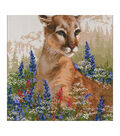RIOLIS Counted Cross Stitch Kit 23.5X23.5\u0022-Cougar (10 Count)